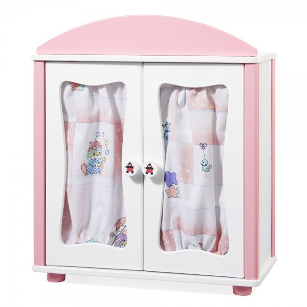 "Puppenschrank ""Lovely Clown"" weiß / rosa"