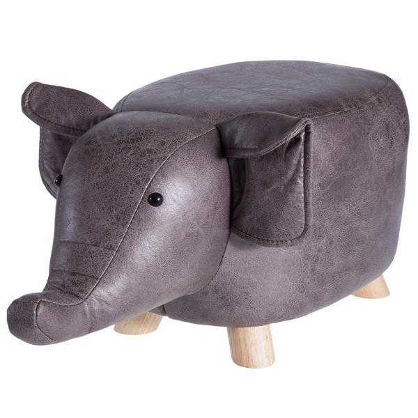 howa Sitztier Polsterhocker Tierhocker für Kinder Elefant