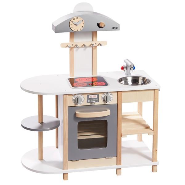 howa Spielküche Deluxe aus Holz mit LED Kochfeld