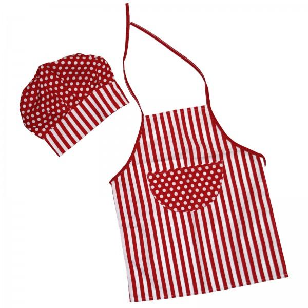 howa Kinderkochschürze und Kochmütze