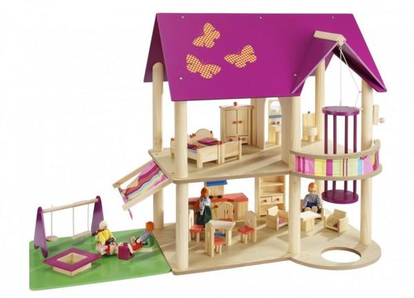 Puppenhaus inkl. Möbelset und 4 Puppen 70041